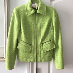 Carlisle Lime Green Zip Blazer
